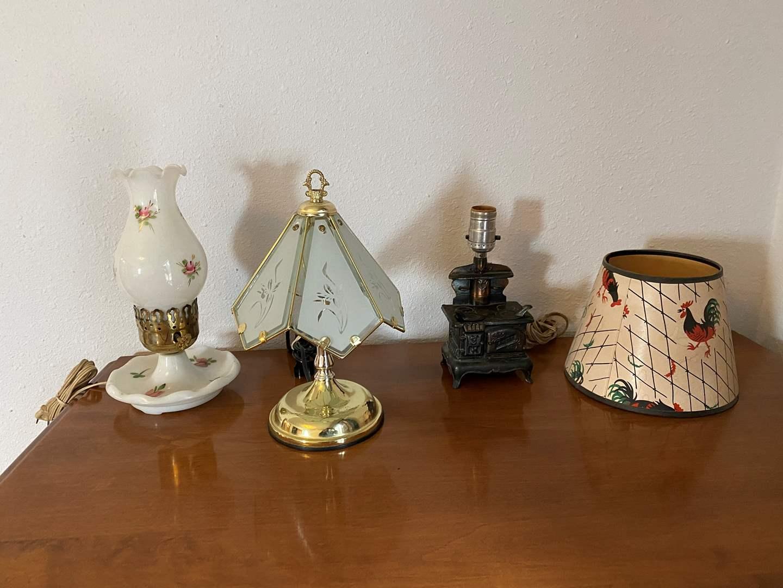 Lot # 193 - Three Small Vintage Lamps (main image)