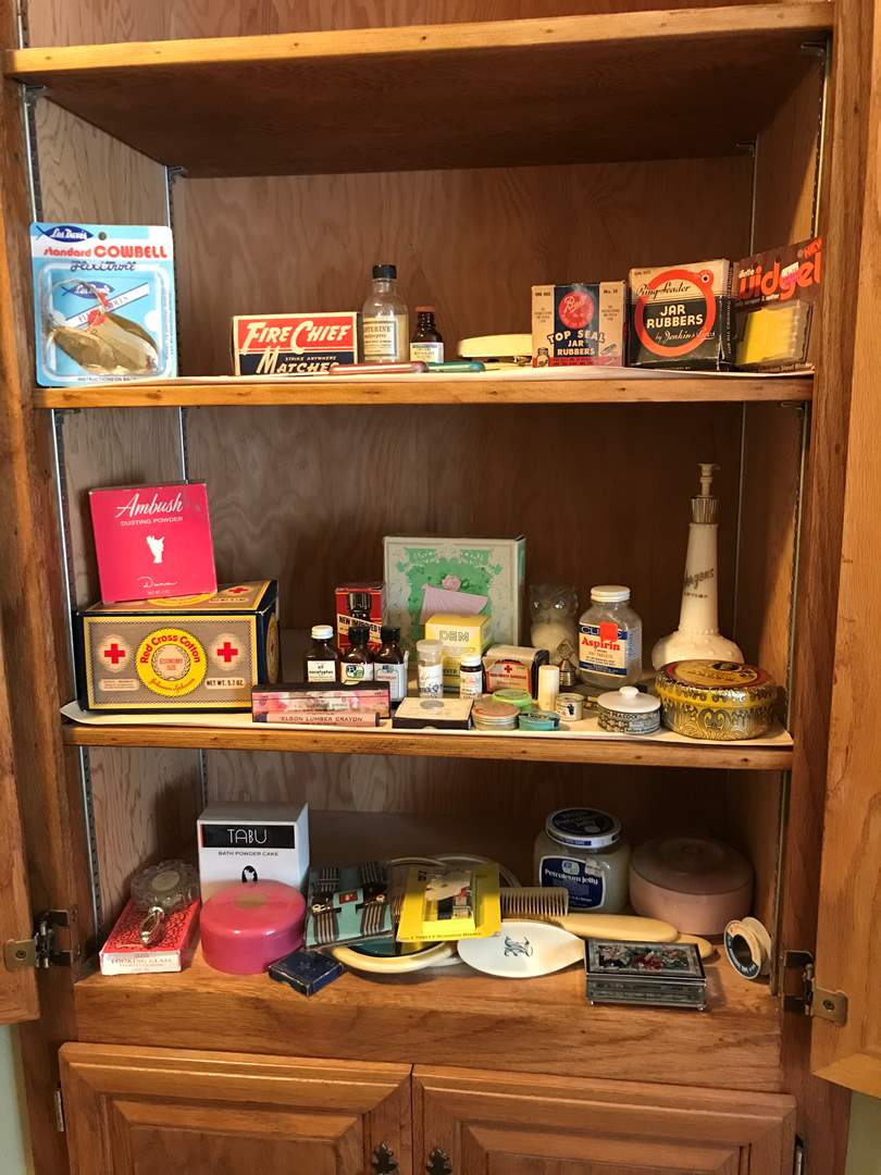 Lot # 199 - Vintage Canisters & Bathroom Items (main image)
