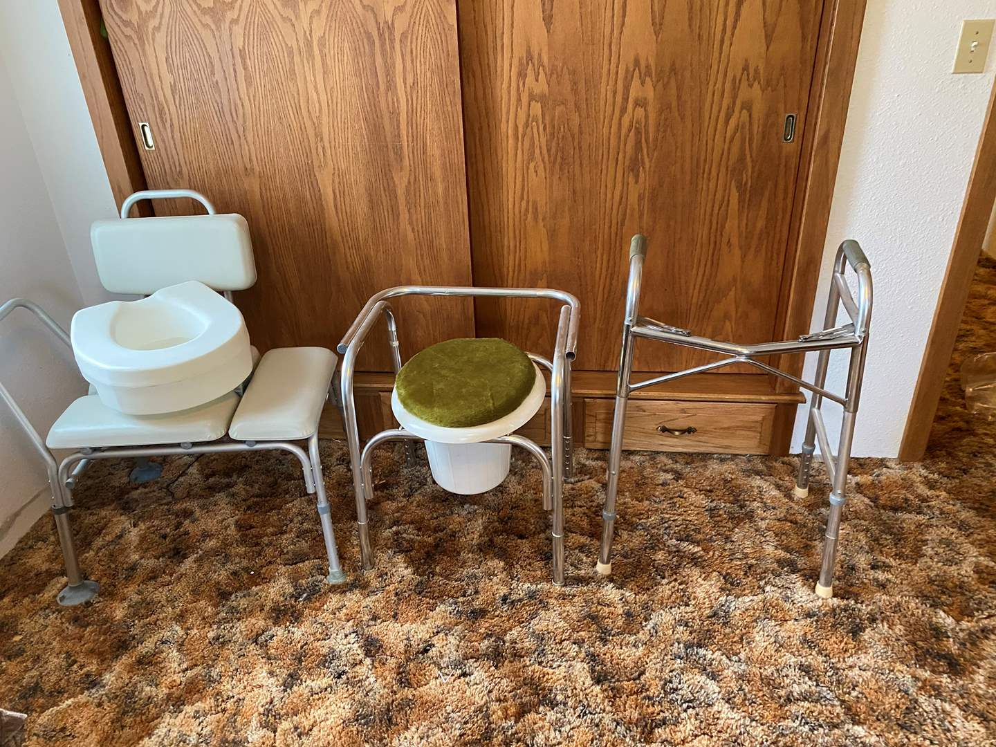 Lot # 210 - Shower Chair, Walker & Toilet Chairs (main image)
