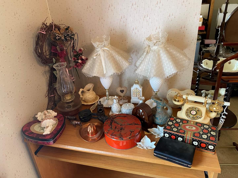 Lot # 227 - Vintage Lamps, Phone, Knickknacks & More (main image)