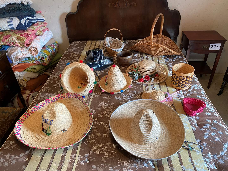 Lot # 229 - Selection of Sun Hats & Baskets (main image)