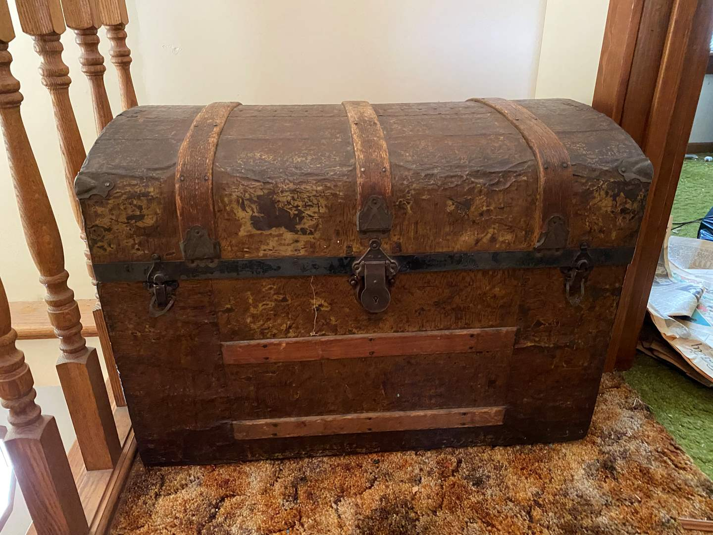 Lot # 234 - Antique Steamer Trunk (main image)