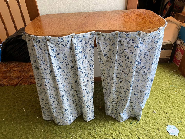 Lot # 238 - Wood Crafting Table  (main image)