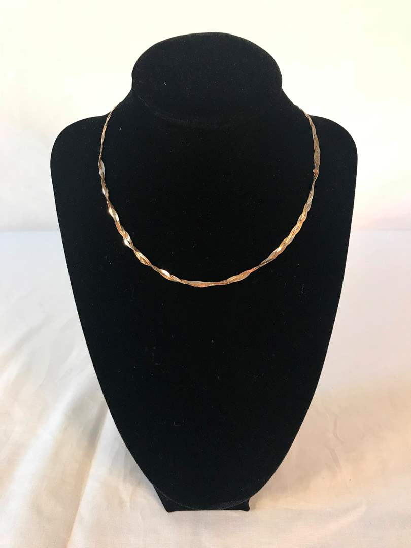 "Lot # 207 - 14"" 14k Gold Necklace - 3.39 grams (Tested). (main image)"