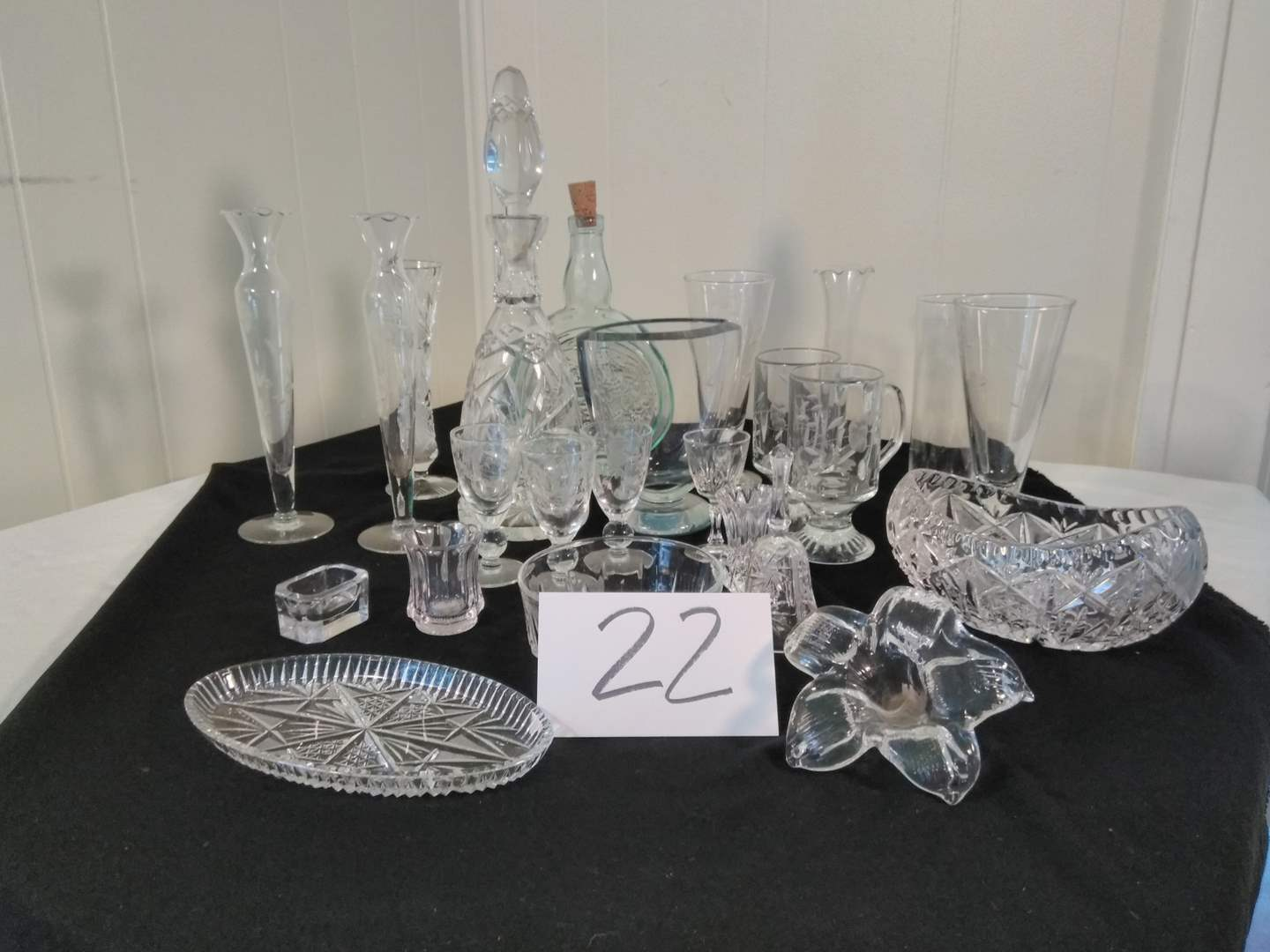 Lot # 22 - Crystal Candy Dishes, Vases, Decanters & More. (main image)