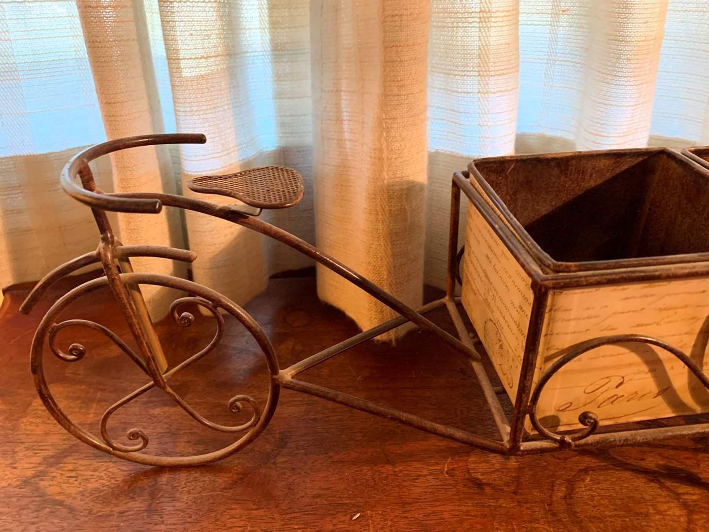 #96 Metal Bicycle Planter (main image)