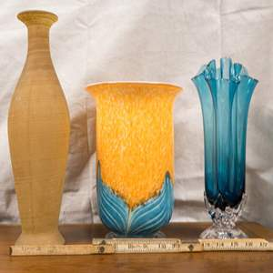LOT 34: A Trio of Tall Vases
