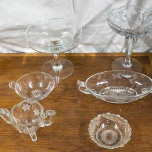 021 - Another Lot of Clear Cut Glass