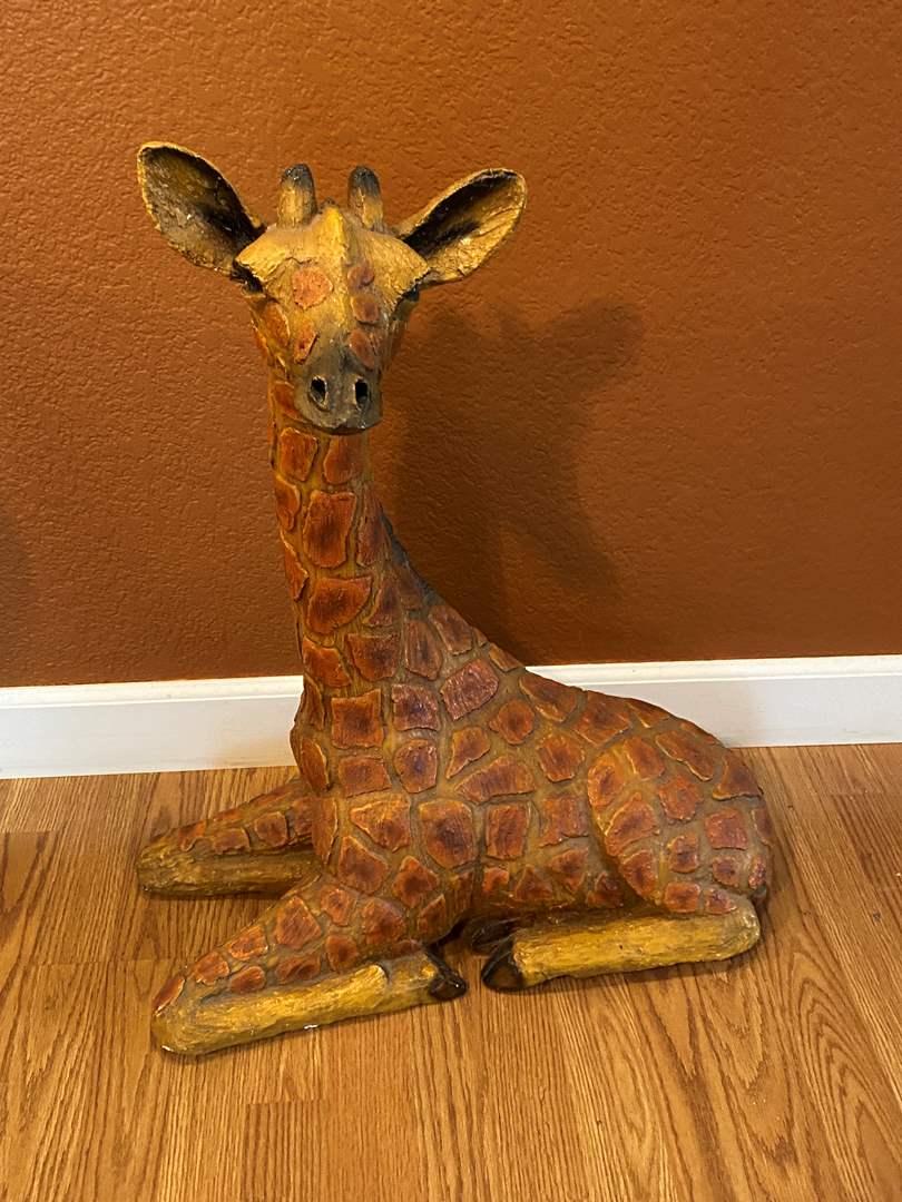 "Lot # 4 HEAVY Giraffe ""Statue"" (main image)"