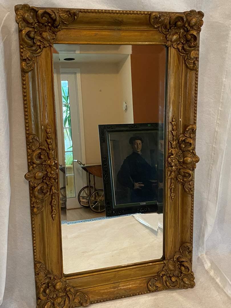Lot # 35 Gold Frame Mirror (main image)