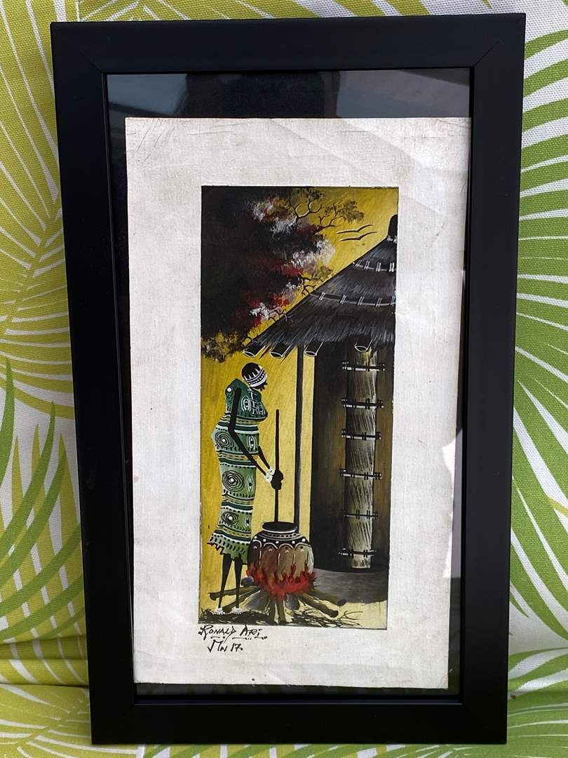 Lot # 40 African Painting by Ronald Ari (main image)