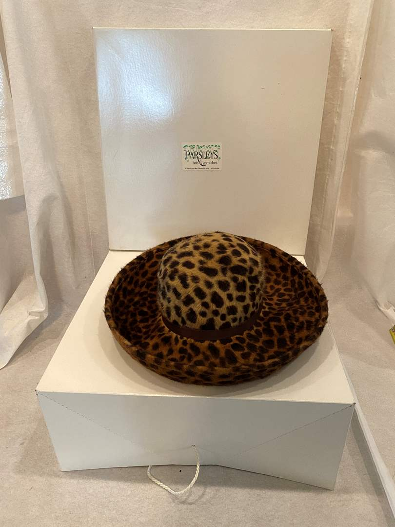 Lot # 101 Lonni Cheetah Print Hat (main image)