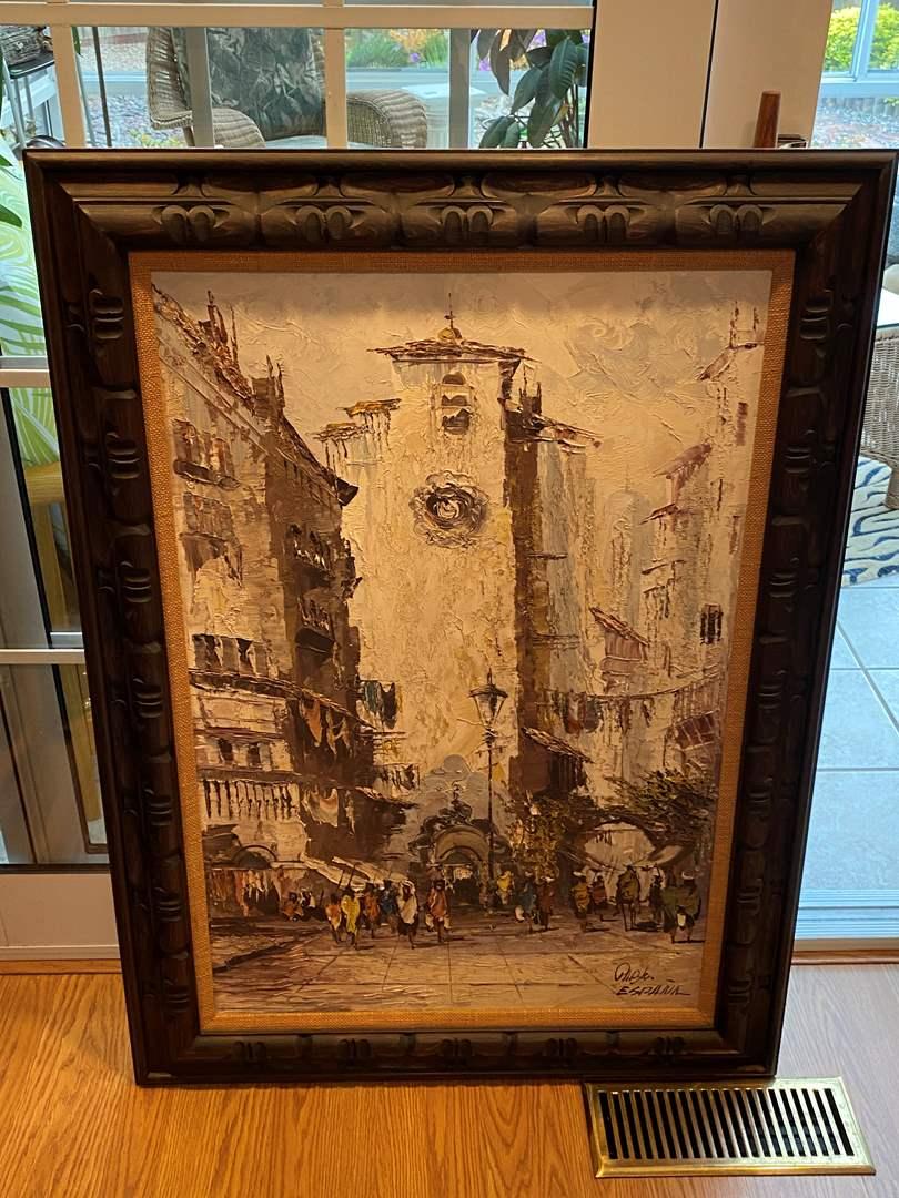 "Lot # 39 Original Oil Painting ""Pablo Espana"" (main image)"