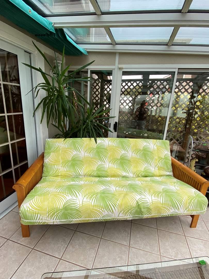Lot # 201 Palm Leaf Futon Couch (main image)