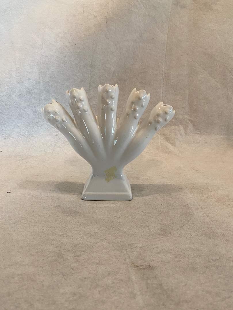 "Lot # 96 Portugal White ""Bud"" Vase (main image)"