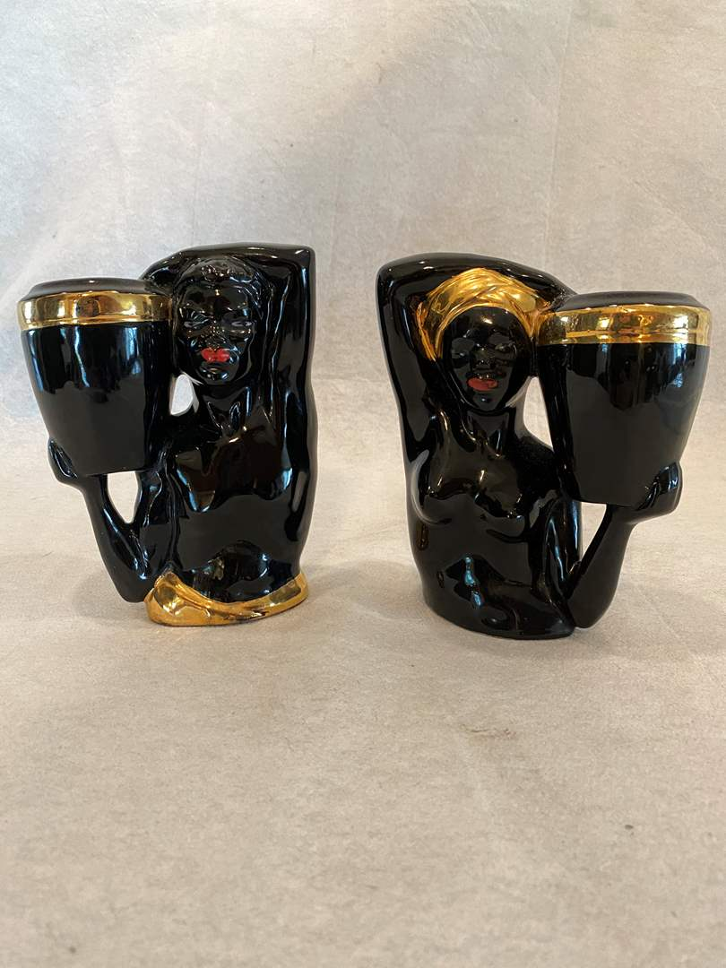 Lot # 95 Pair of African Vases (main image)
