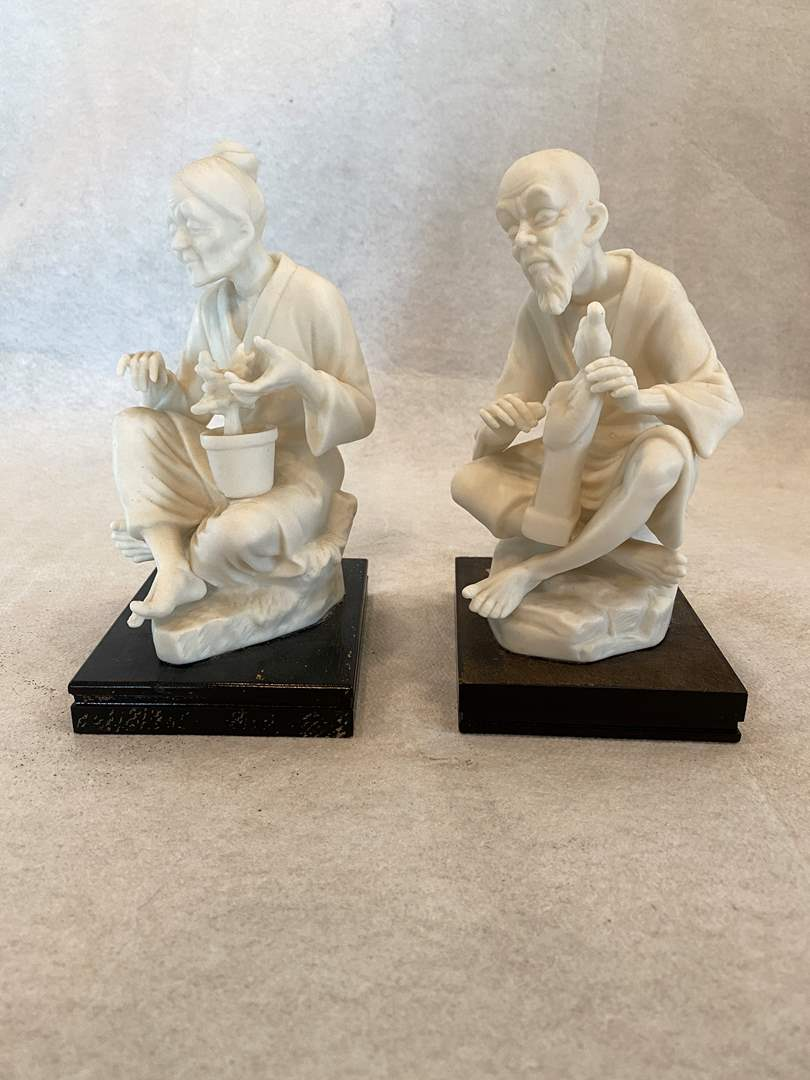 Lot # 49 Asian Woman and Man Figurines (main image)