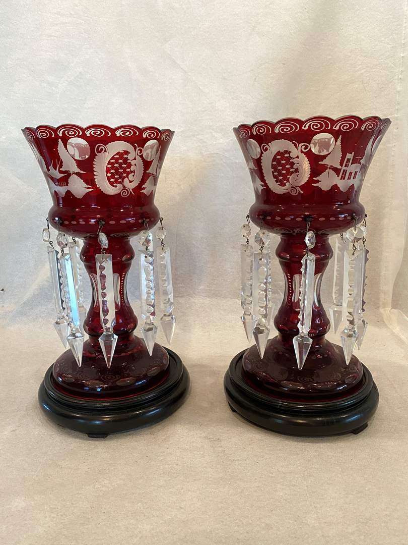 Lot # 18 Decorative Glass Candle Holders (main image)