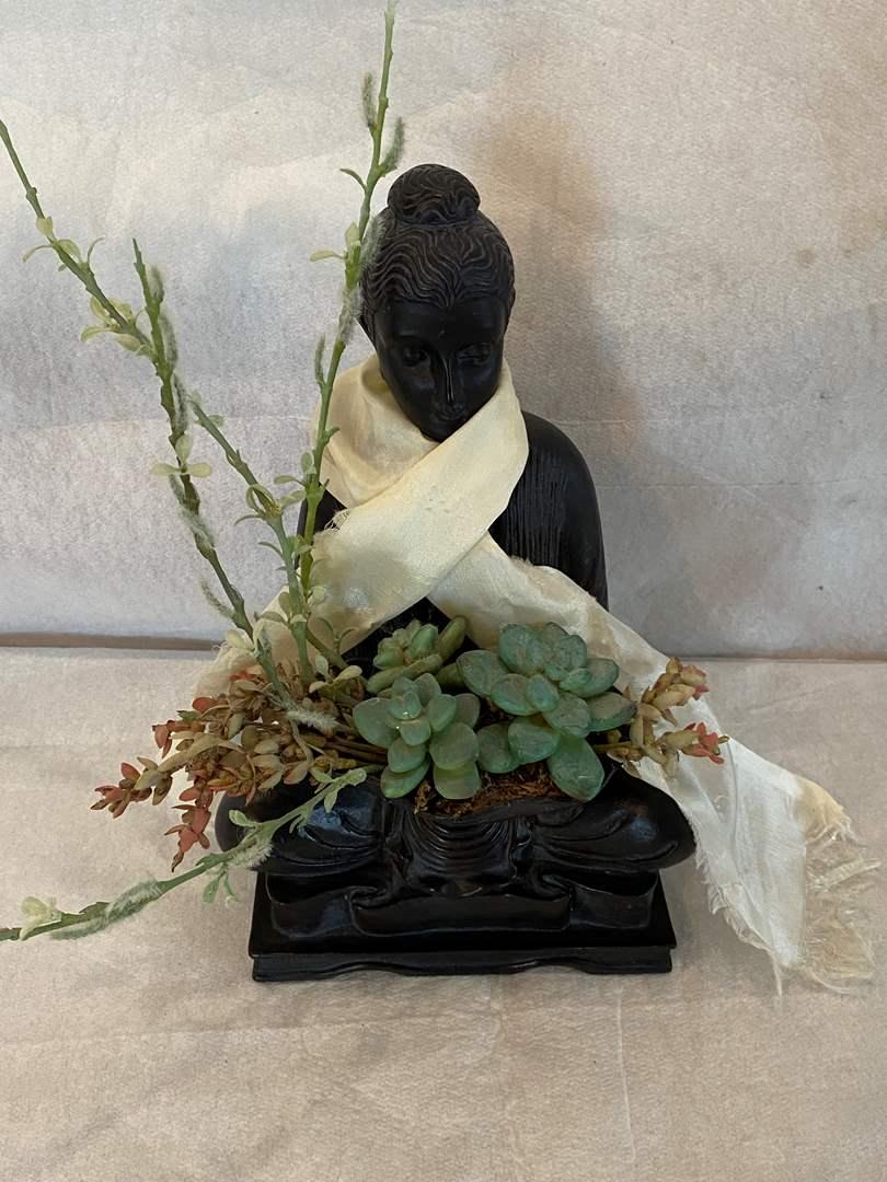 Lot # 83 Lady Figurine Plant Pot (main image)