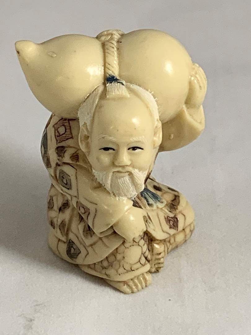 Lot # 120 Old Man Asian Figurine (main image)