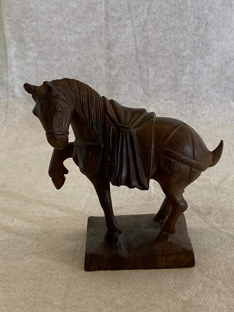 Lot # 134 Wood Horse Figurine (main image)
