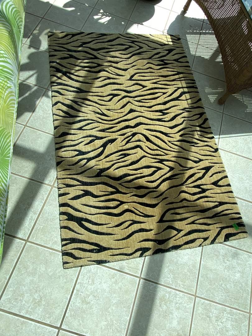 Lot # 226 Tiger Print Carpet (main image)