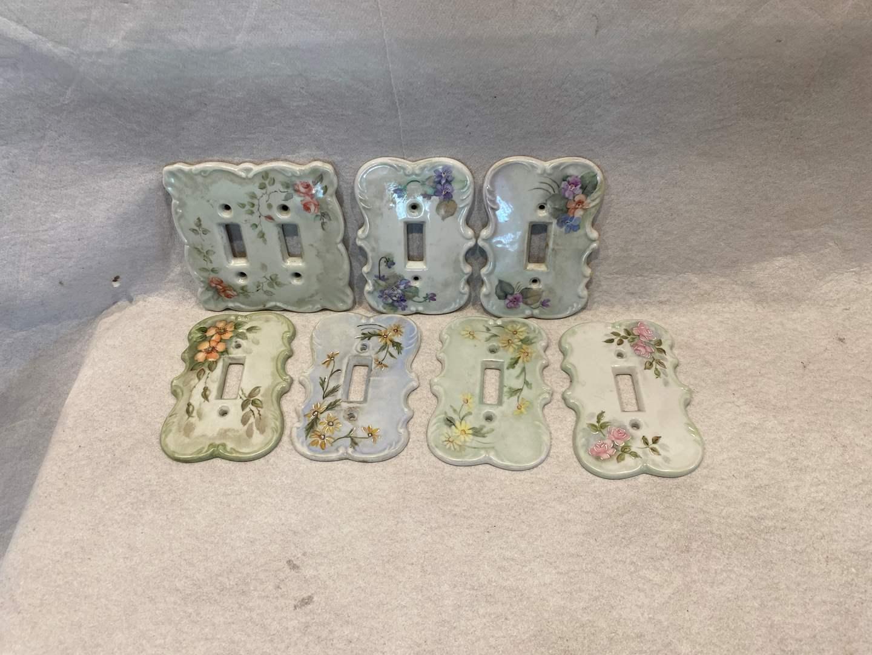Lot # 91 Lot of Porcelain Light Switch Plates (main image)