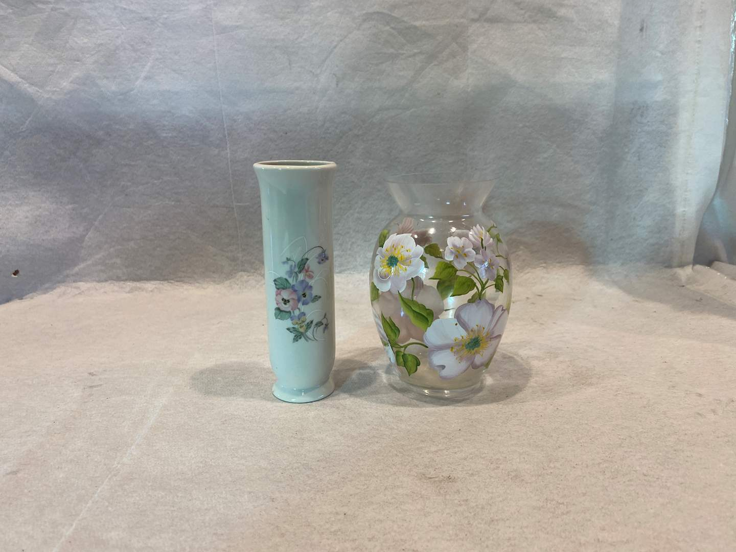 Lot # 238 Pair of Floral Vases (main image)