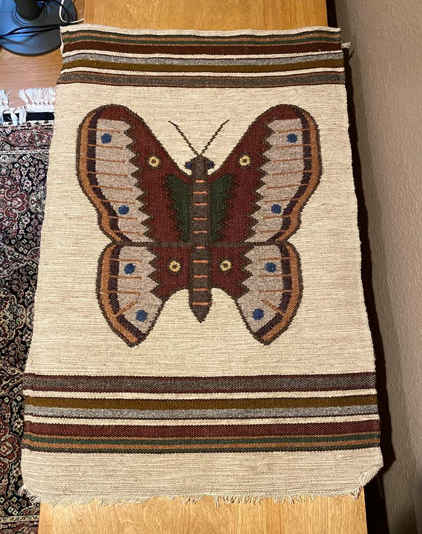 Lot # 155 Butterfly Carpet (main image)