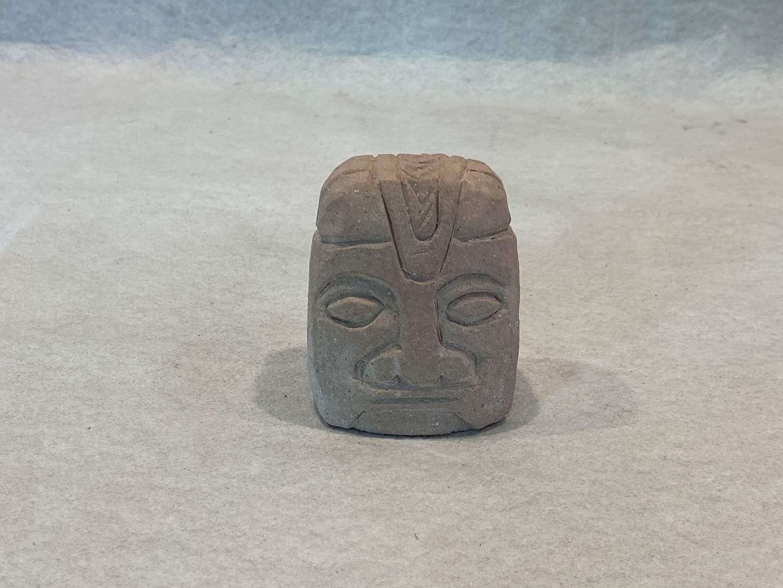 Lot # 253 Rock Head Figurine (main image)