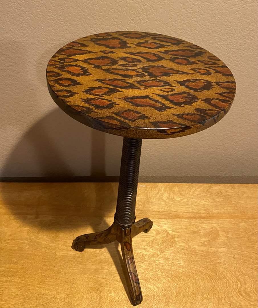 Lot # 146 Small Cheetah Print Table (main image)