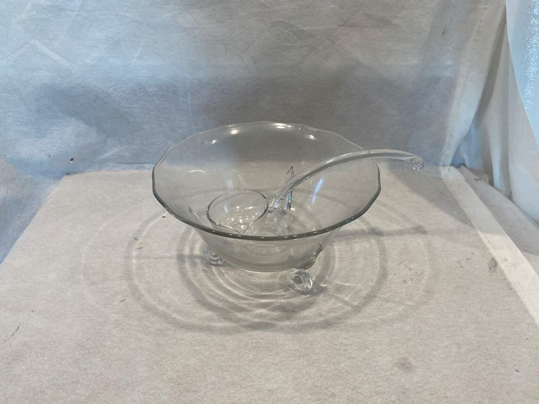 Lot # 13 Crystal? Glass? Punch Bowl (main image)