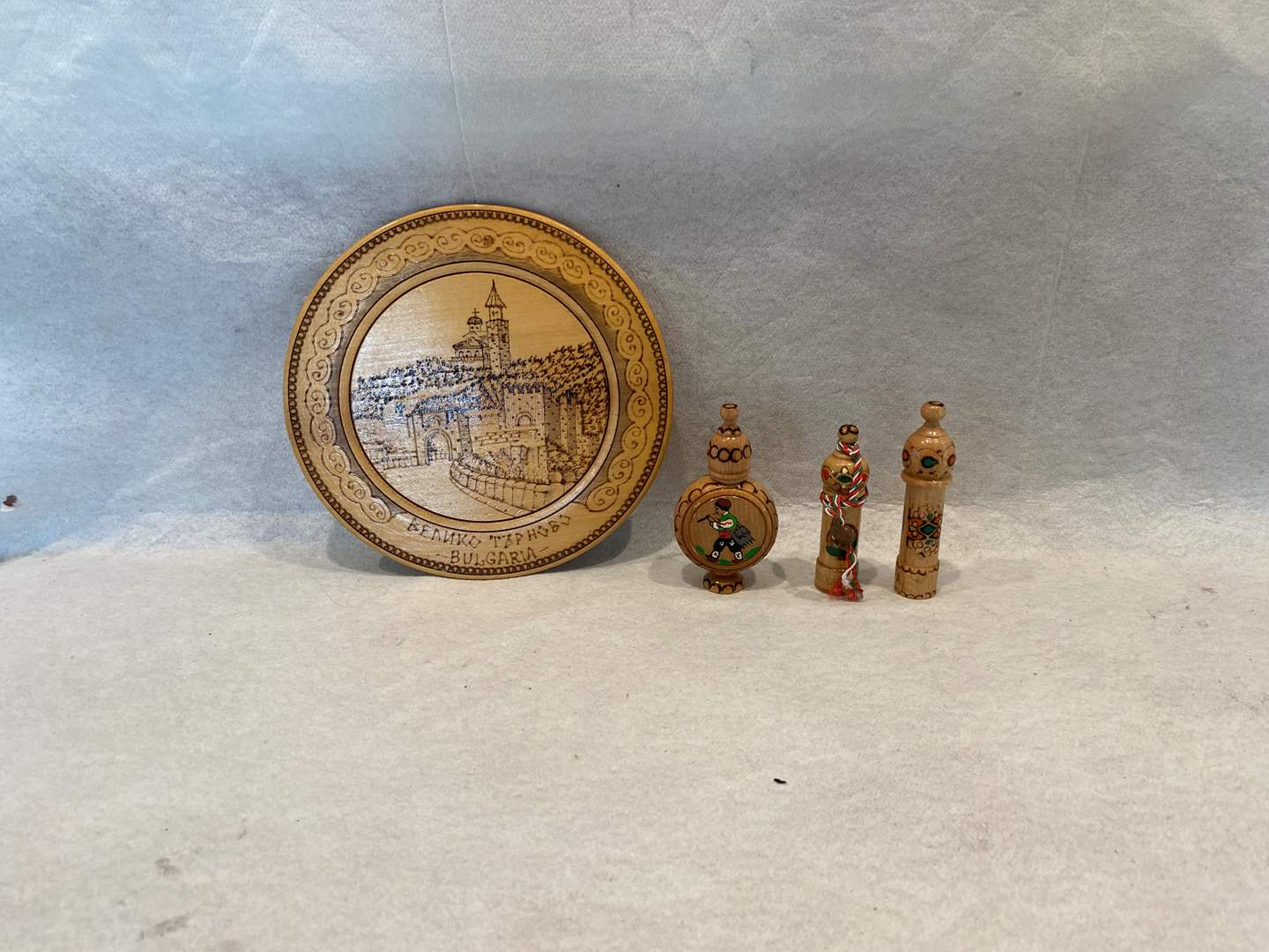 Lot # 310 Bulgarian Plate and Containers with Perfume (main image)