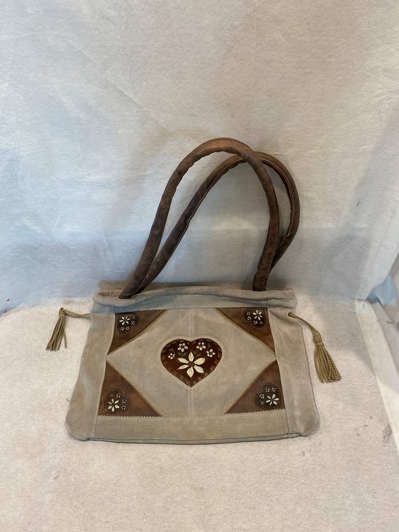 Lot # 304 Floral Leather Bag (main image)