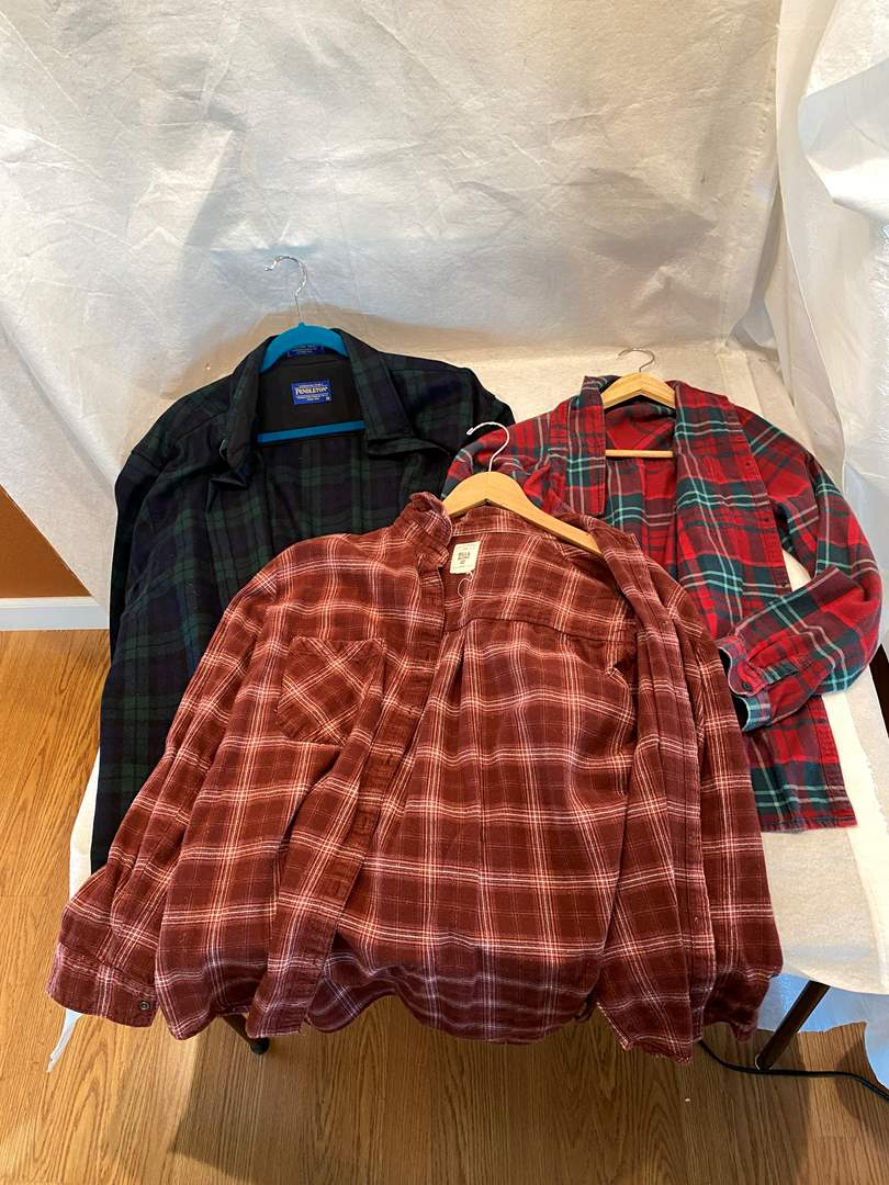 Lot # 192 Lot of Plaid Jackets (main image)