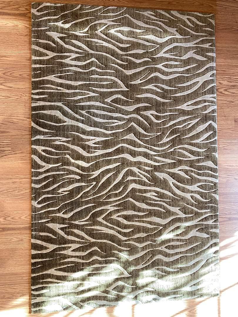 Lot # 228 Animal Striped Print Rug (main image)