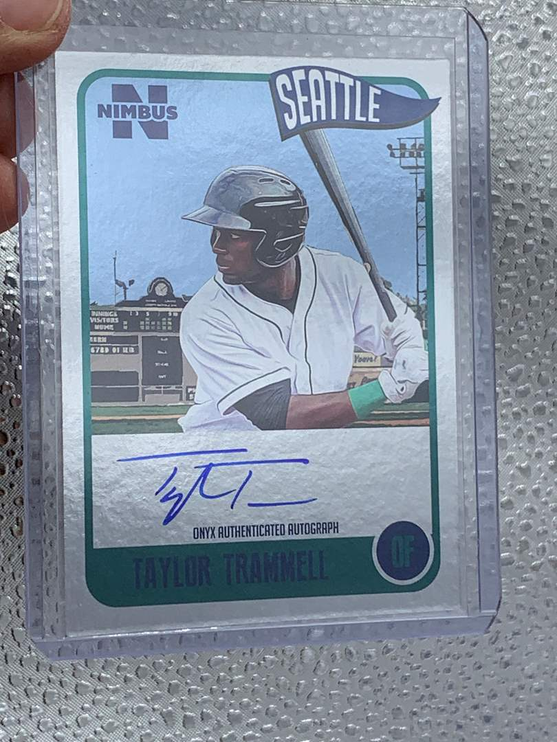 Lot # 52 2020 Onyx Nimbus TAYLOR TRAMMELL Silver Auto /325 (main image)