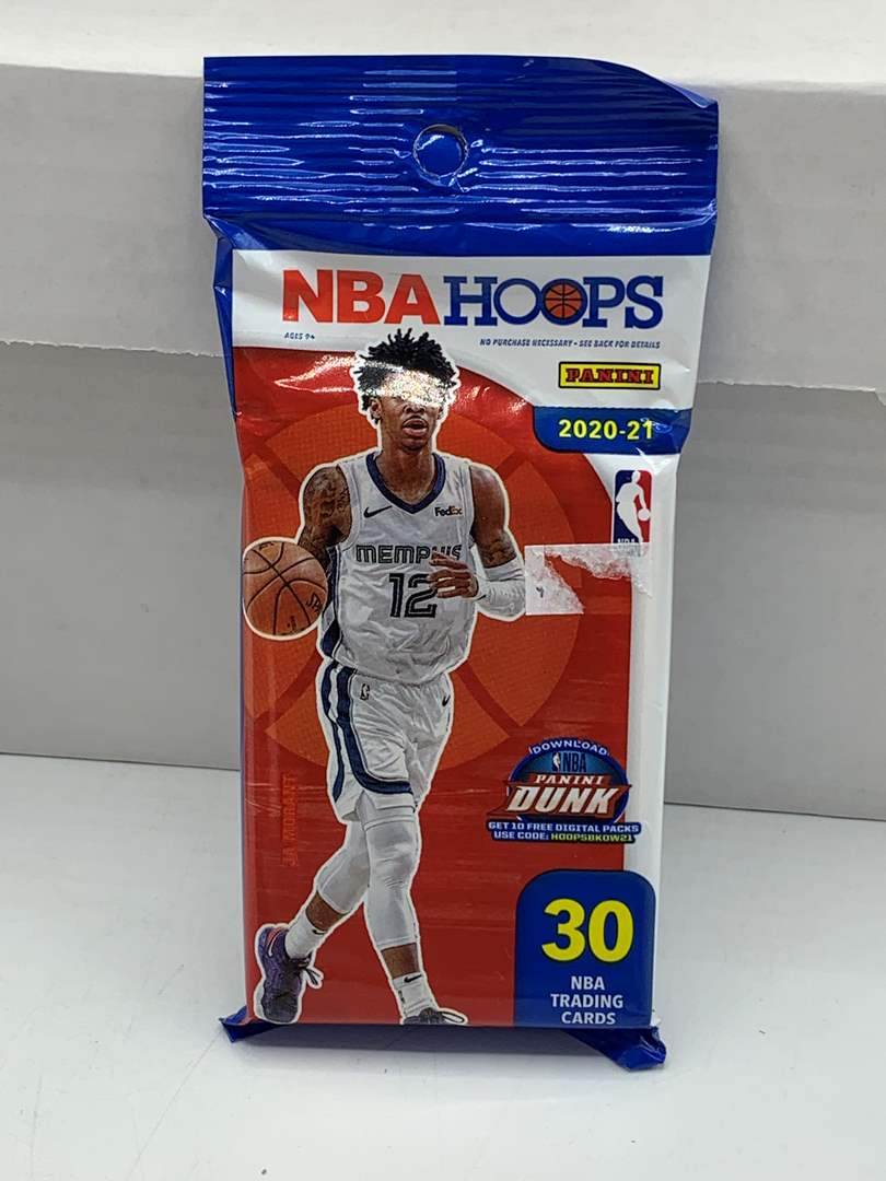 Lot # 95 One Sealed Pack 2020-21 NBA Hoops (main image)