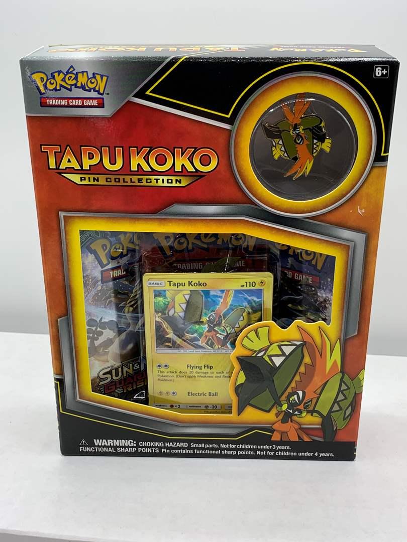 Lot # 91 Un-Opened Pokemon Tapu Koko Pin Collection Box (main image)