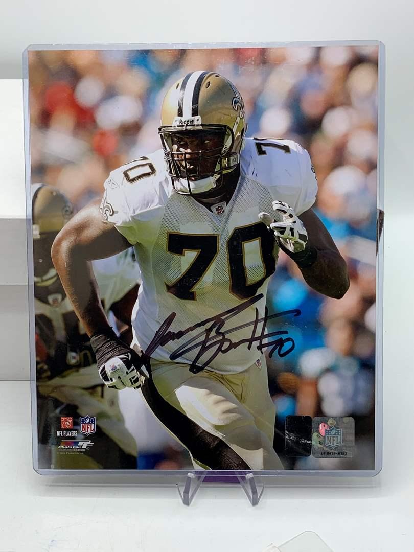 Lot # 86 Autographed 8x10 Photo JAMMAL BROWN New Orleans Saints PhotoFile (main image)