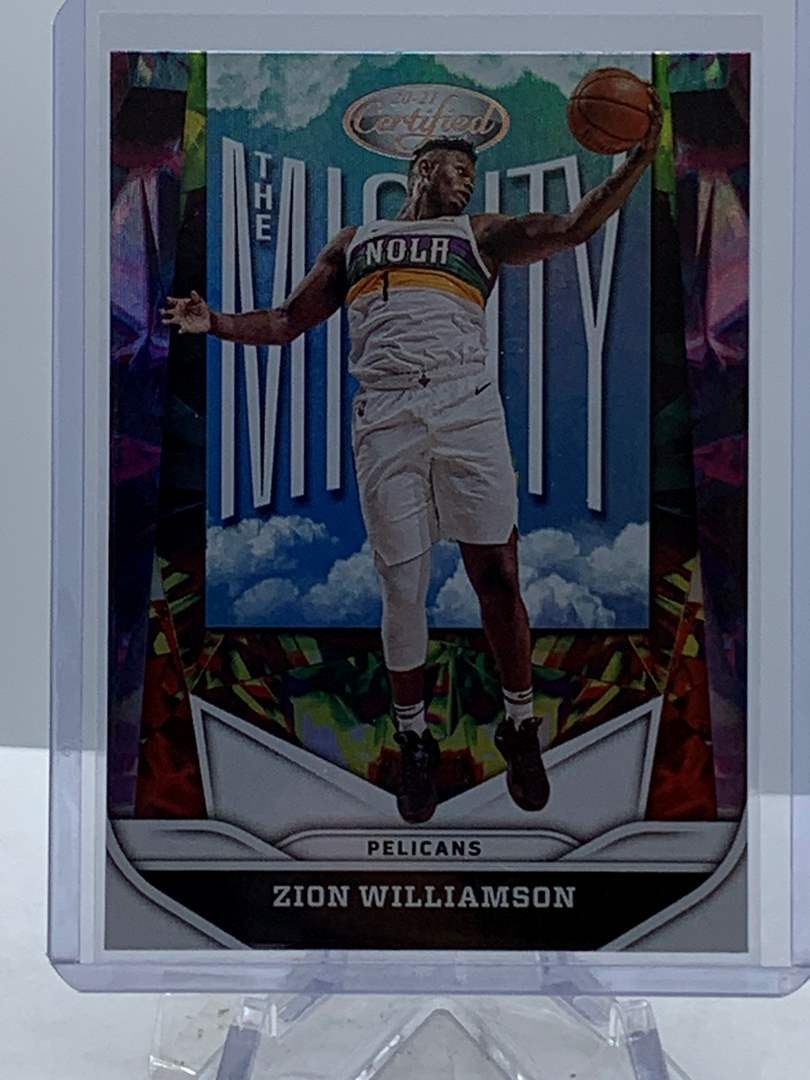 Lot # 107 2020-21 Panini Certified ZION WILLIAMSON The Mighty Pelicans (main image)