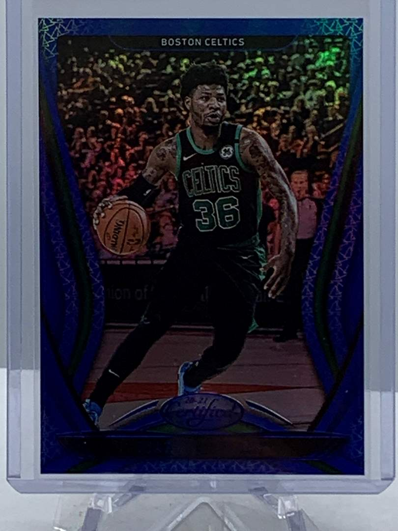 Lot # 108 2020-21 Panini Certified MARCUS SMART Blue Celtics (main image)
