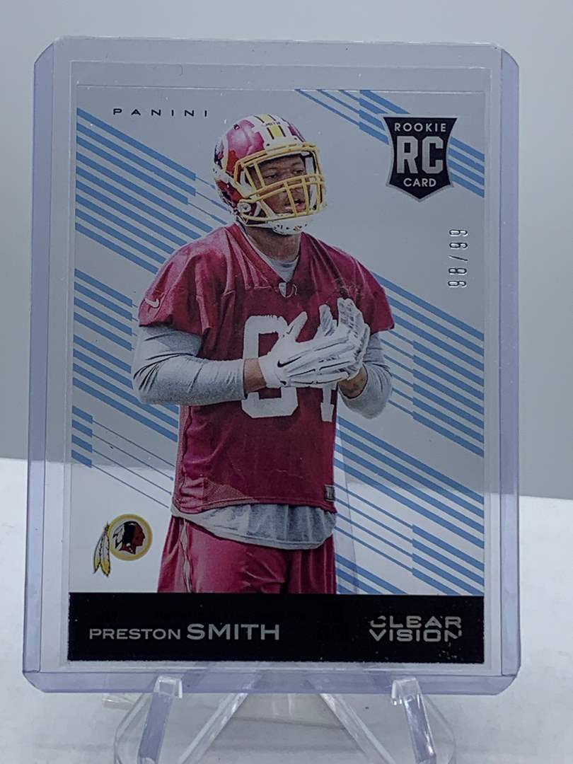 Lot # 140  2015 Panini Clear Vision PRESTON SMITH Redskins (main image)
