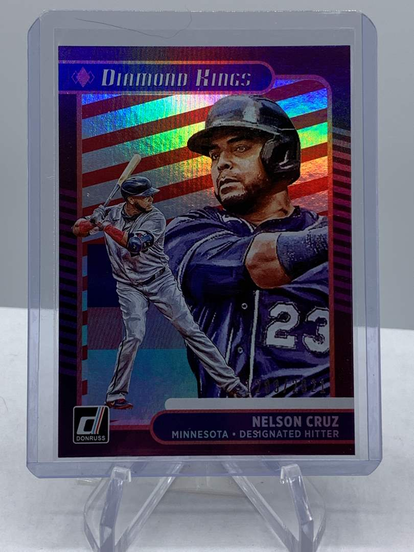 Lot # 157 2021 Panini Donruss NELSON CRUZ Diamond Kings #1289/2021 (main image)