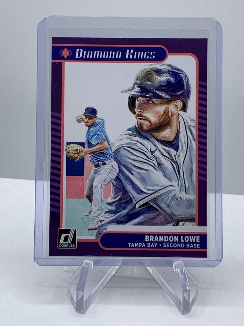 Lot # 167 2021 Panini Donruss BRANDON LOWE Diamond Kings (main image)