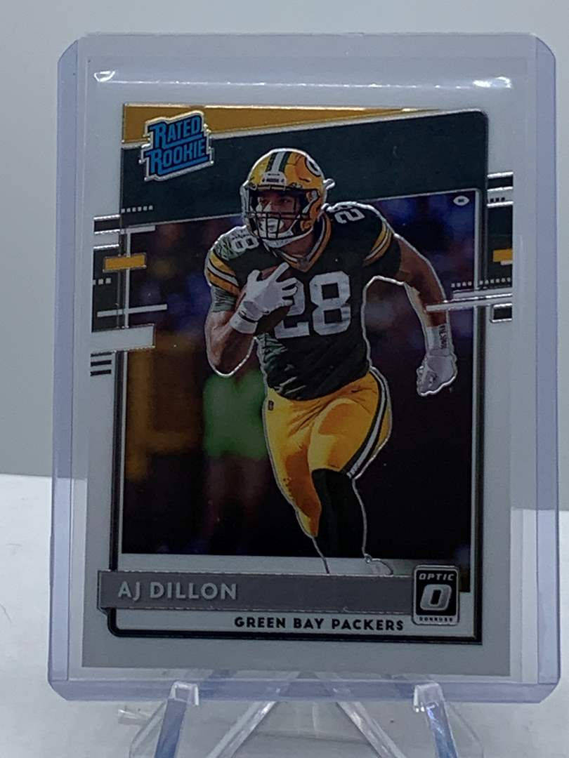 Lot # 195 2020 Panini Donruss Optic AJ DILLON Rated Rookie Packers (main image)