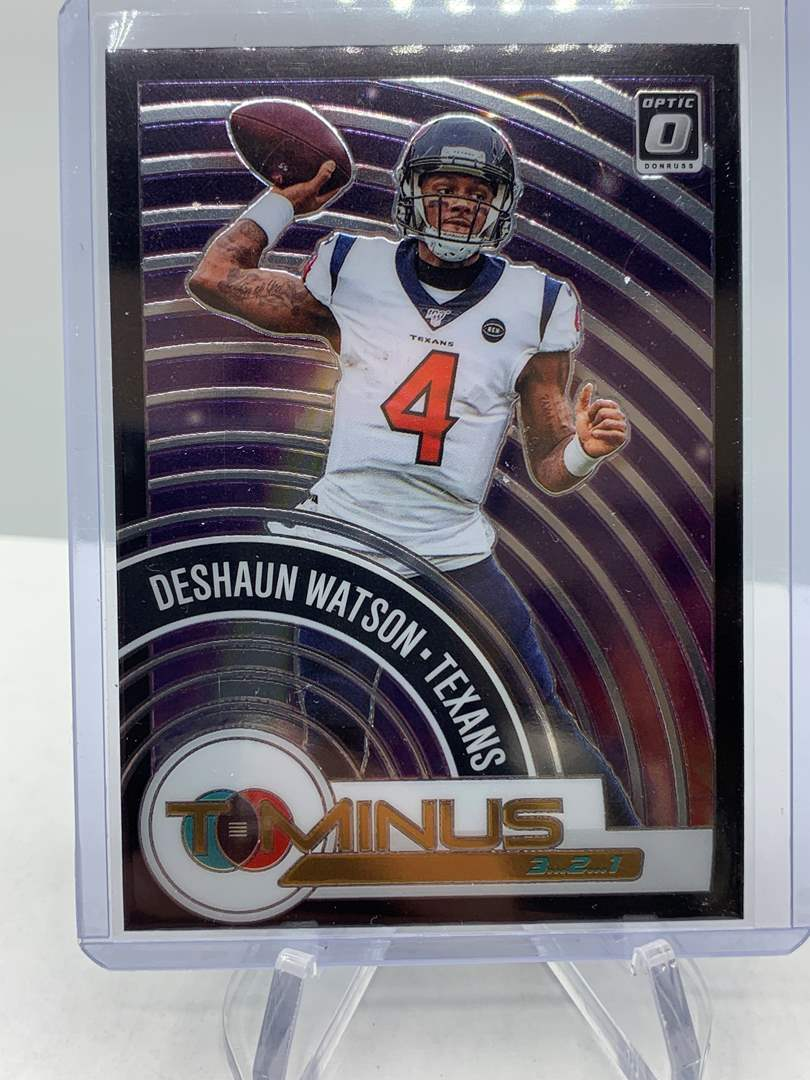 Lot # 203 2020 Panini Donruss Optic DESHAUN WATSON T Minus Texans (main image)
