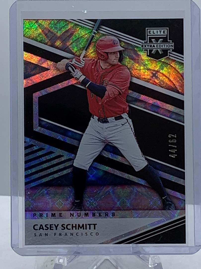 Lot # 210 2020 Panini Elite Extra Edition CASEY SCHMITT #44/62 (main image)