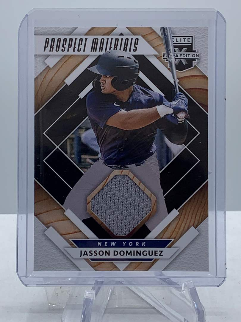 Lot # 218 2020 Panini Elite Extra Edition JASSON DOMINGUEZ Prospect Materials Relic  (main image)
