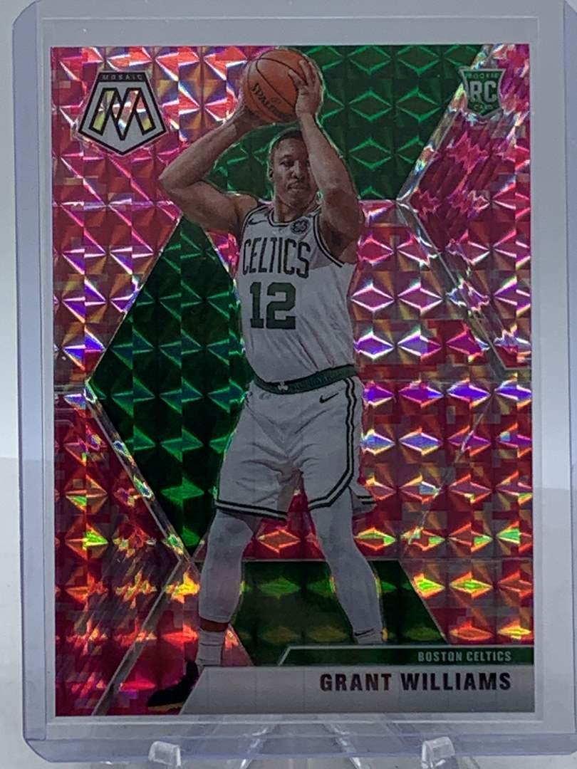 Lot # 247 2019-20 Panini Mosaic GRANT WILLIAMS RC Celtics (main image)